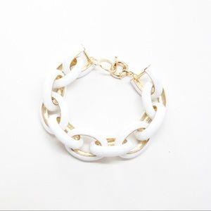 NWOT White Enamel Link Bracelet
